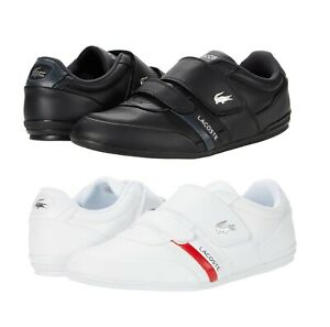 LACOSTE Misano Strap 0721 Men's Casual Leather Loafer Shoes Sneakers Black White