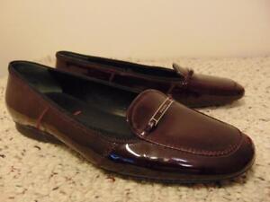 ff014e58b Ballerines Cuir Confortables Prada Mocassins Verni Chaussures En 39 ...
