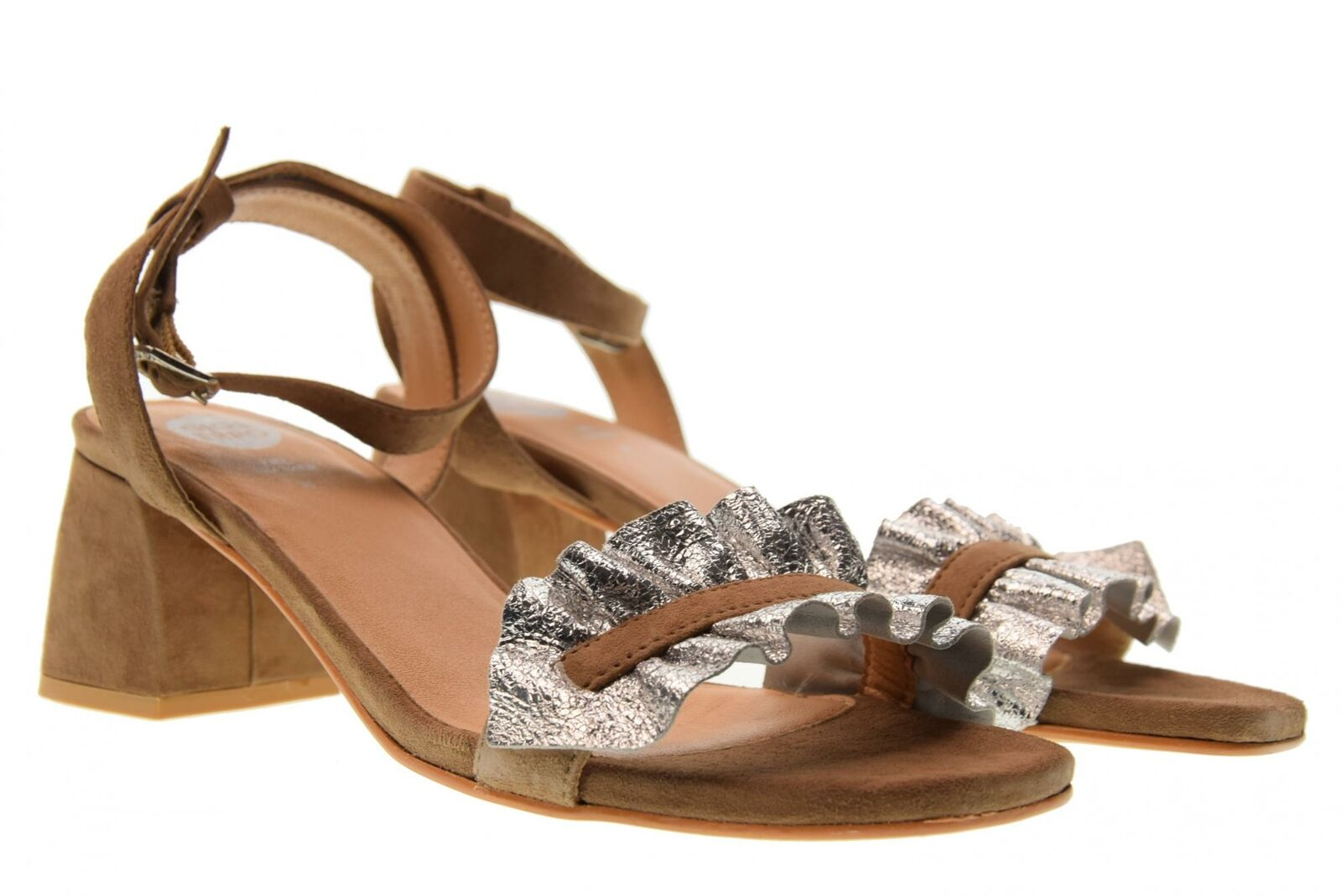 Gioseppo P18u shoes woman sandals low heel 45301 SILVER   SAND
