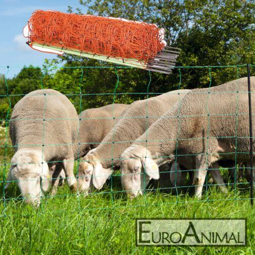 50m Euronetz Schafnetz Schafzaun Elektrozaun Schafe Pferch Agility Hundezaun