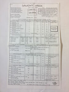 DAWSON'S CREEK set used CALL SHEET plus location map,memo ~ Season 5, Episode 23