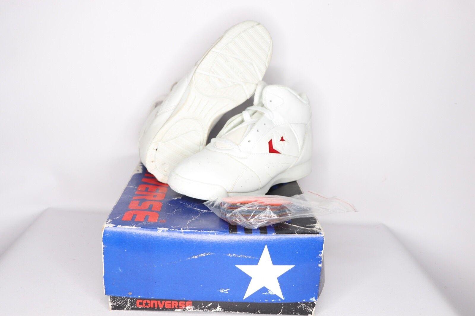 Vintage Vintage Vintage 90s Nuevo Converse Para Mujer Talla 8 Mega Cheer Mid Cheerleader Zapatos blancoo  moda