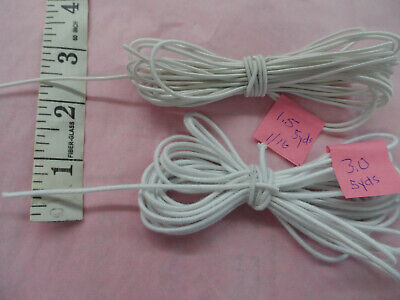 """ELASTIC CORDING TO RESTRING 8-10 /"""" DOLLS 3.0MM 10 YARDS with diagram"""