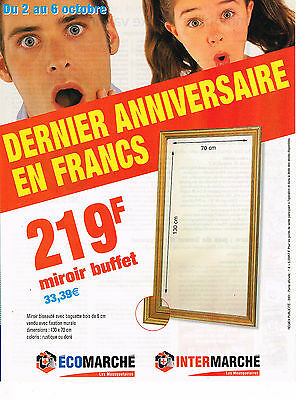 Publicite Advertising 114 2001 Intermache Le Dernier Anniversaire En France Collections