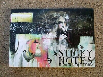 Papaya Art Swallows Bird Black Pink Sticky Note Set Post It Fashion Decorative