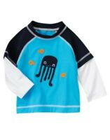 Gymboree Swim Shop Blue Jelly Fish L/s Rashguard 3 6 5t