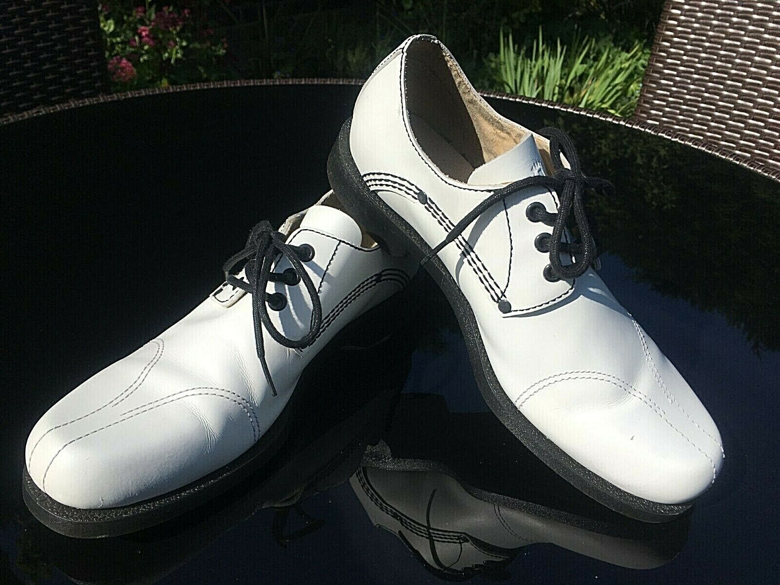 Dr. Martens Campbell Weiß leather Oxford Derby casual schuhe UK 8 EU 42