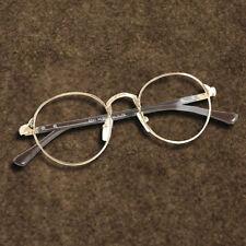 Retro Oval Gold Men Women Full Eyeglasses Frames Plain Glasses Clear Spectacle