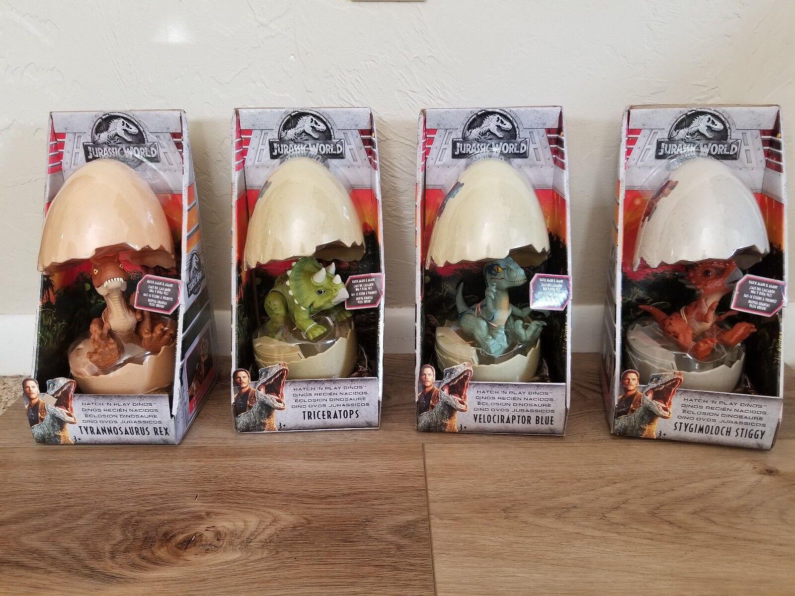 Jurassic welt luke 'n stck dinos - blau, t - rex, stiggy, triceratop komplett