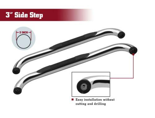 "For 2019-2020 Chevy Silverado//GMC Sierra 1500 Regular Cab 3/"" S//S Side Step Rails"
