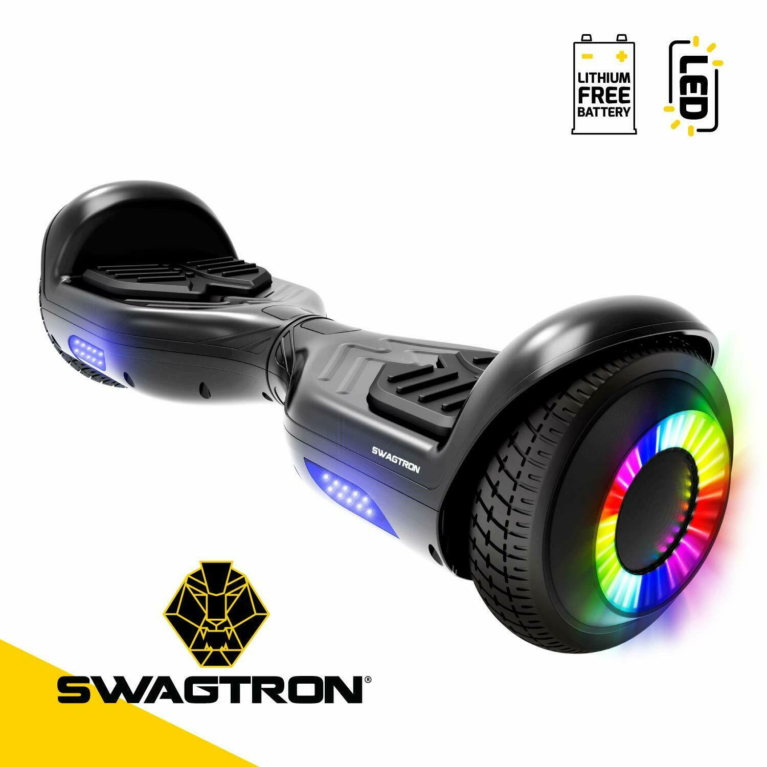Swagtron T881 Twist Hoverboard w/LED Wheels