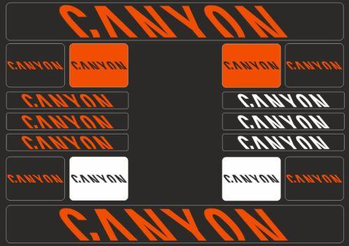 CANYON Mountain Bicycle Frame Decals Stickers Graphic Adhesive Set Vinyl Orange