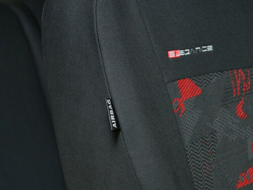 charcoal grey//red verlour Car seat covers fit Suzuki Vitara full set