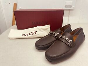 Bally Drulio Chocolate Calf Perforated Loafers - US Size 11