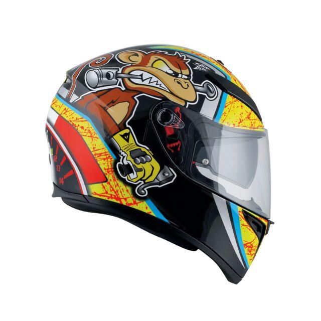 Motorrad Helm AGV K-3 SV Bulega PLK Farbe: Neongelb/Schwarz Größe: L(59)