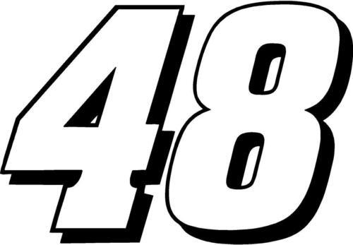 Jimmy Johnson 48 Nascar Decal Sticker Free Shipping