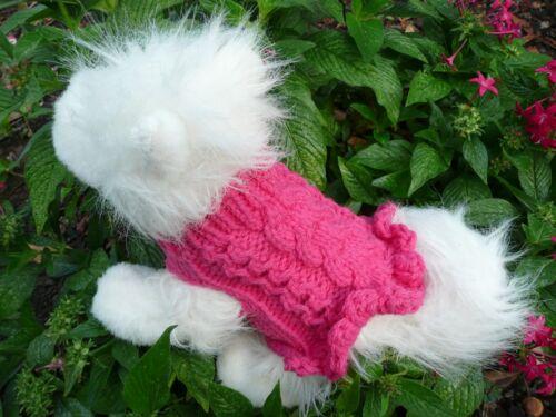 XXXXS handmade knit cute dog sweater dress