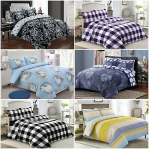 PRINT-DUVET-COVER-WITH-PILLOWCASE-QUILT-COVER-BEDDING-SET-SINGLE-DOUBLE-KINGSIZE