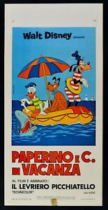 Plakat Donald Pluto Goofy E Co. IN Urlaub Cartoon Walt Disney L31