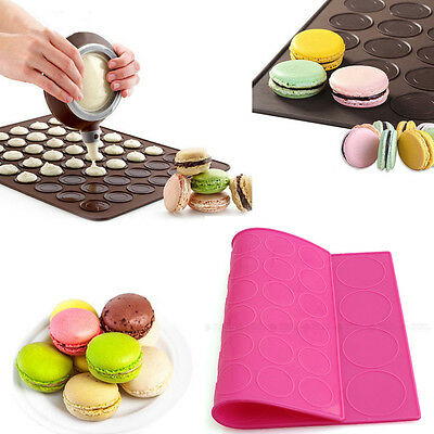 Double Side Silicone Macaron Macaroon Pastry Cookie Muffin Oven Baking Mat Sheet