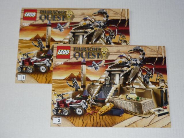 Lego Pharaohs Quest 7327 Scorpion Pyramid Sticker Sheet Ebay