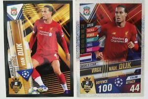2020 Match Attax 101 Soccer Card - Van Dijk World Star 100 Club W2 S2 Liverpool