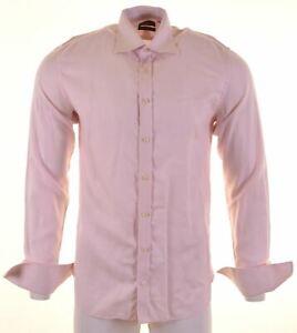 TED-BAKER-Mens-Shirt-Size-15-1-2-39-Medium-Pink-Cotton-CD17
