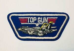 TOP-GUN-Quality-Iron-On-Patch-Badge-US-AIR-FORCE-TOM-CRUISE-80-s-Costume-Dressup