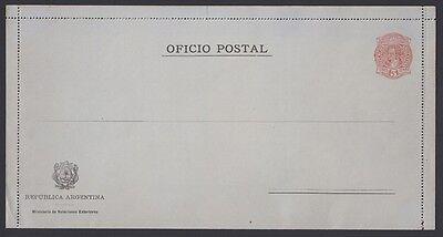 1890 Offizielle Brief Karte D8 Argentinien Postfrisch Exquisite Handwerkskunst;