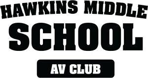 Hawkins Middle School Av Club Vinyl Decal Stranger Things Sci Fi
