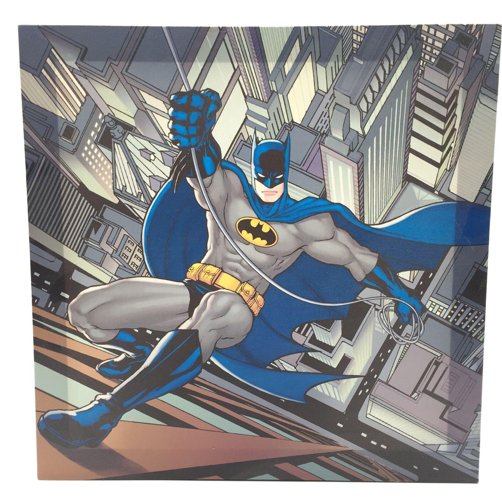 TABLEAU BATMAN MARVEL TOILE CADRE BOIS 40 X 40