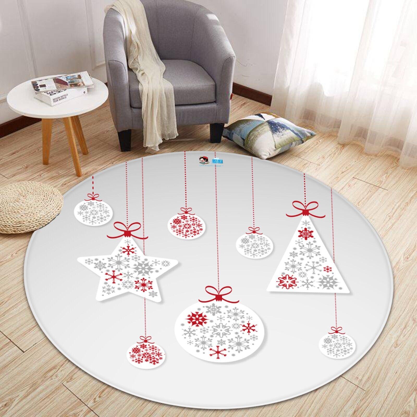 3D Christmas Xmas 607 Non Slip Rug Mat Mat Round Quality Elegant Photo Carpet