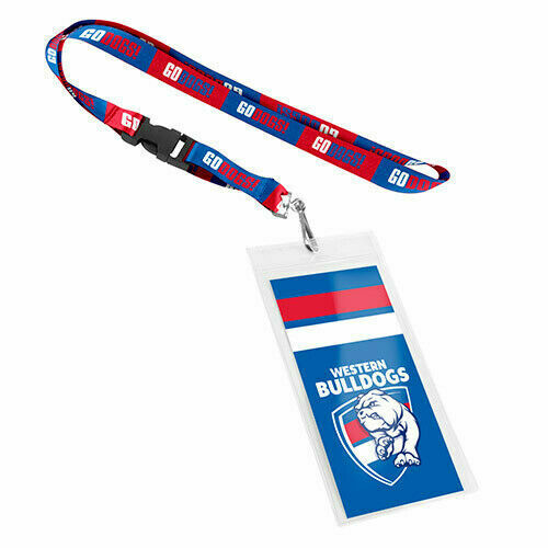 Western Bulldogs AFL Lanyard Chain Card Pocket Storage Poly Swivel Hook