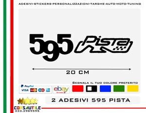 2-ADESIVI-500-595-695-PISTA-COMPETIZIONE-STICKER-ADESIVO-TUNING-ELABORA-AUTO