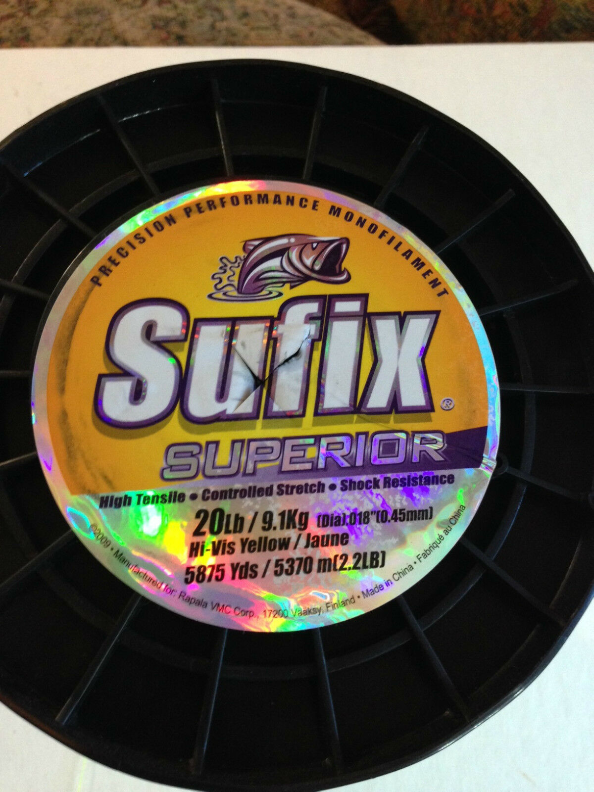 Suffix  Superior Hi-Vis Yellow, Test 20  lb.  buy cheap