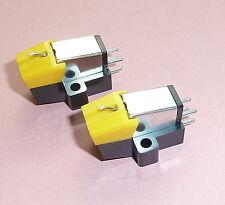 Dos cartuchos de tocadiscos de calidad y calidad Stylus Nuevo Moving Magnet Con Protector