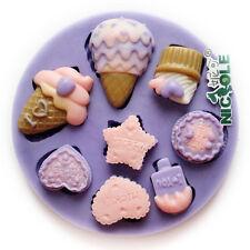 Ice Cream Fondant Cake Decorating Mold Silicone Molds Handmade Chocolate Candy