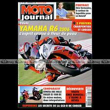 MOTO JOURNAL N°1686 BIMOTA DB5 MILLE, DUCATI SS 1000 DS, YAMAHA YZF 600 R6 2005