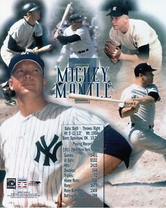 MICKEY-MANTLE-NY-YANKEES-UNSIGNED-8x10-PHOTO