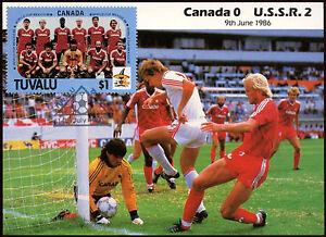 Football-Maxicard-1986-Canada-V-USSR-Handstamped-C26399