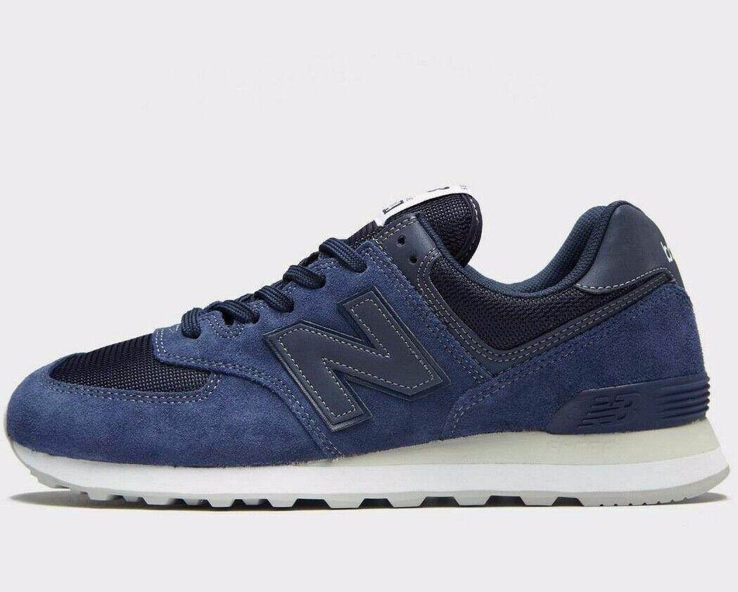New Balance MS 574 ML574ETB  Leather ® ( Men Size ) Dark bluee