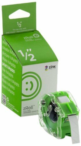 ZINK 1//2 inch zRoll ink-free ZINK Paper A 1//2 inch wide roll of full color