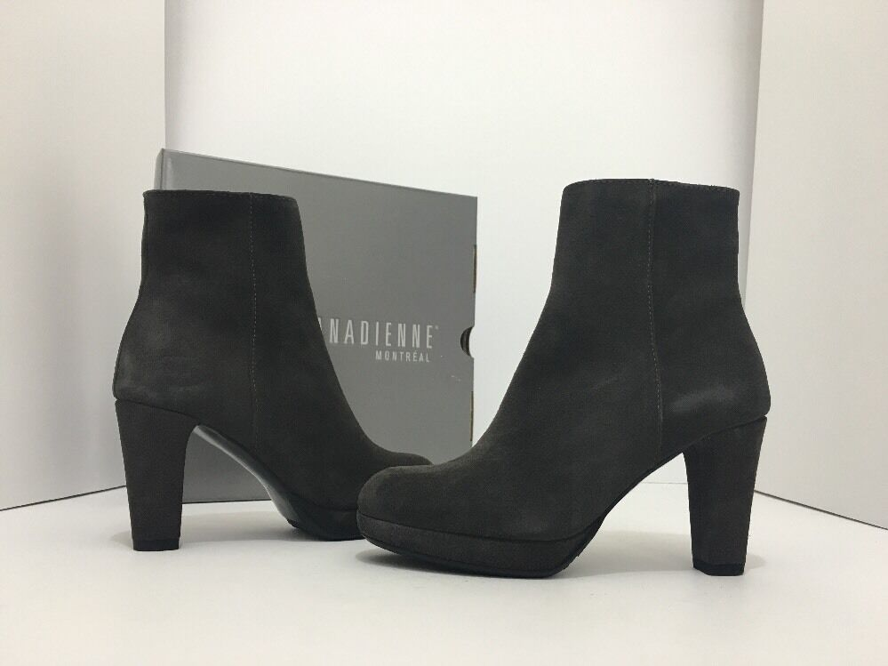 La Canadienne Monacco Moka Moka Moka Gamuza Marrón para Mujer botas al Tobillo Plataforma Tacón Alto 9  ventas calientes