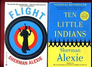 "flight by sherman alexie The best-selling author of multiple award-winning books returns with his first novel in ten years, a powerful, fast and timely story of a troubled foster teenager — a boy who is not a ""legal"" indian because he was never claimed by his father — who learns the true meaning of terror about to commit a devastating act, the young."