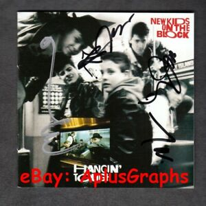 NEW-KIDS-ON-THE-BLOCK-Hangin-039-Tough-30th-Anniversary-CD-SIGNED-By-All-5-Guys