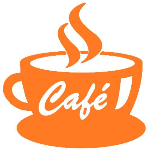 Sticker Décoration Cuisine Tasse de Café fumant 10x10 cm à 30x30 cm