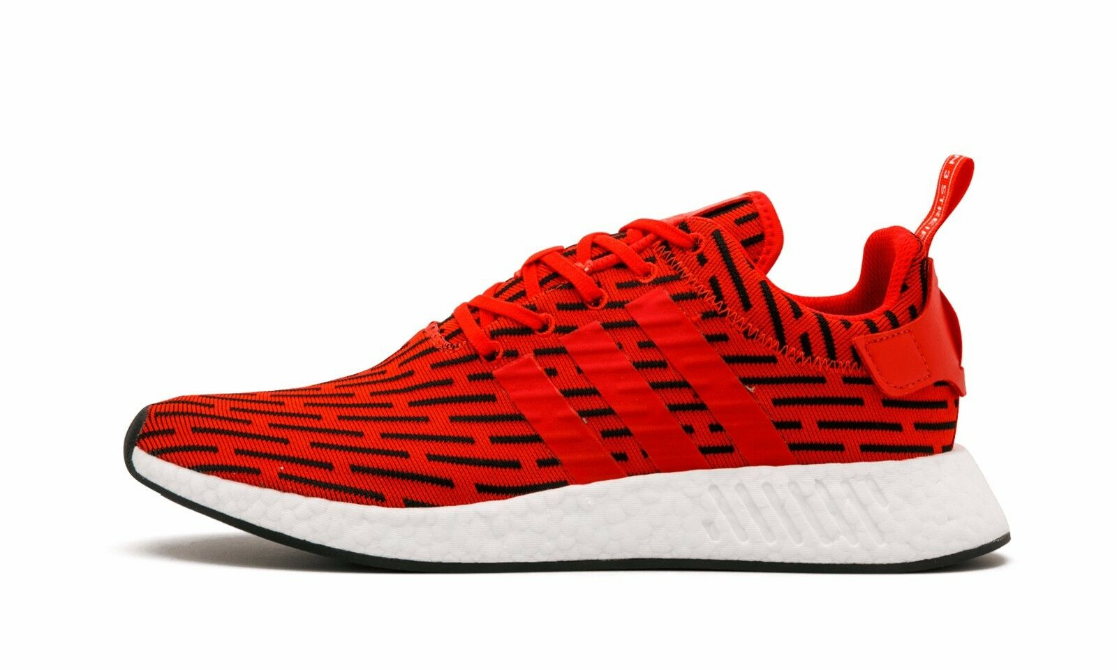 Adidas NMD R2 PK Primeknit Red White Size 13.5. BY2098 yeezy ultra boost