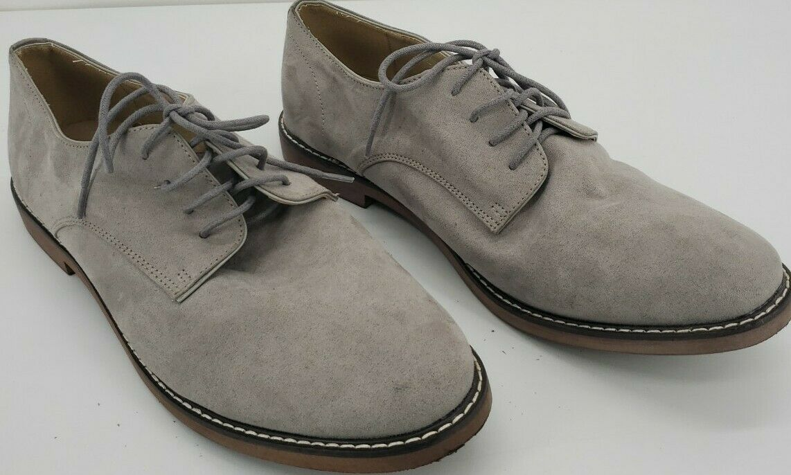 Old Navy Buck Oxfords Shoe Sued Light Gray Mens Size 12