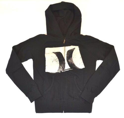 Hurley NEGATIVE Black White Graphic Splat Zip Up Sweatshirt Junior/'s Hoodie