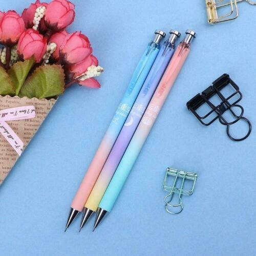 Cute Moon Star Plastic Pencil Automatic Pen For Writing New School Supply H9U5